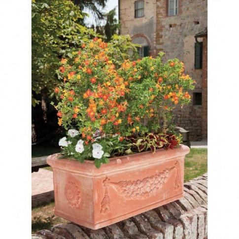 Jardiniera din ceramica Decor, exterior, teracota, 60 x 30 x 30 cm