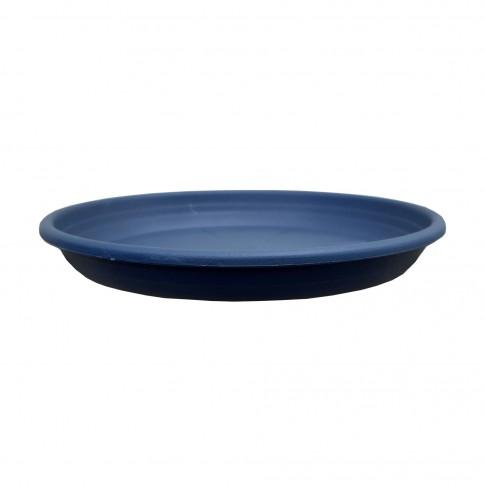 Farfurie ghiveci Olivia, plastic, rotund, antracit, D 14 cm
