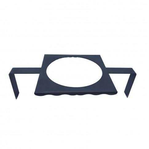 Suport ceaun, pentru gratar, otel, 59 x 31 cm, cu 2 picioare