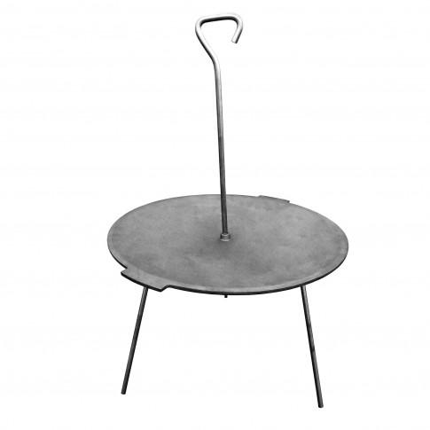 Disc gratar, pentru picnic FM, fonta, D 52 cm, cu 3 picioare din otel