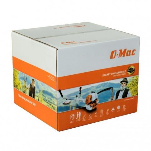Motocoasa pe benzina O-Mac 3GC630 Premium, 4 CP + pachet consumabile