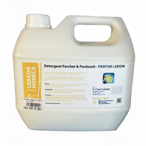 Detergent pentru parchet si pardoseli Casa Lebada, parfum lemon, 3 L