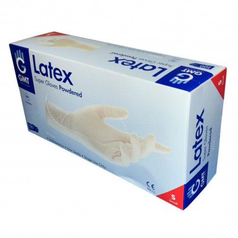 Manusi de protectie unica folosinta, latex, marimea S, set 100 buc