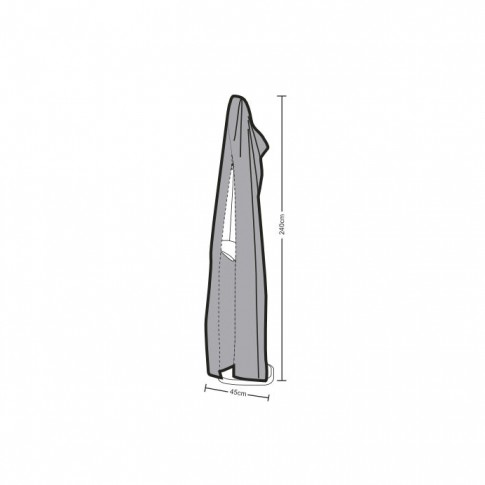 Husa pentru umbrela gradina Versay, 45 x 240 cm