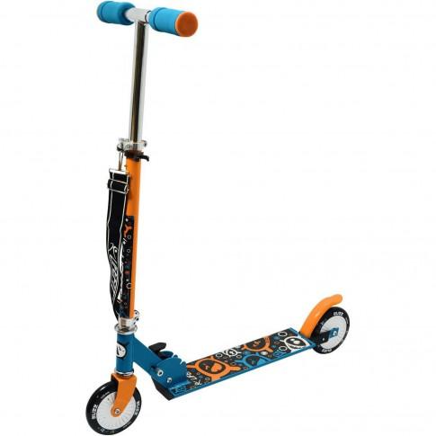 Trotineta pentru copii Buzz, pliabila, albastru/portocaliu
