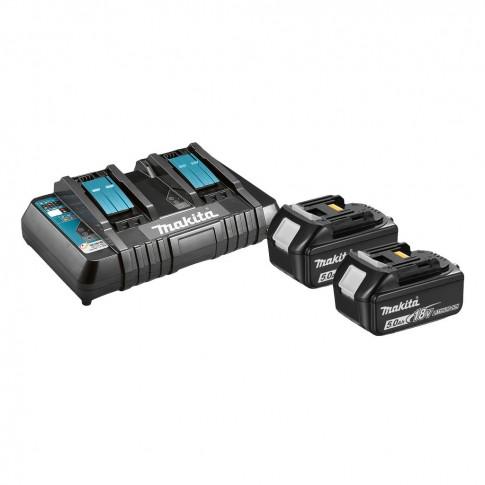 Set 2 acumulatori si incarcator, Li-Ion PSK LXT BL1850BX2 GC18RD, 18 V, 5 Ah + valiza transport