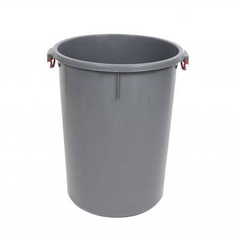Butoi plastic Dolplast, fara capac, gri, 100 litri
