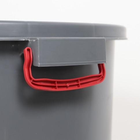 Butoi plastic Dolplast, fara capac, gri, 150 litri