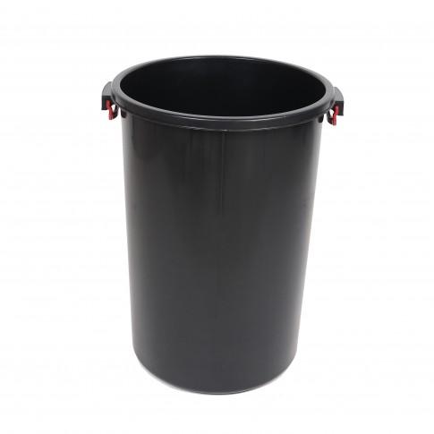 Butoi plastic Dolplast, fara capac, negru, 100 litri