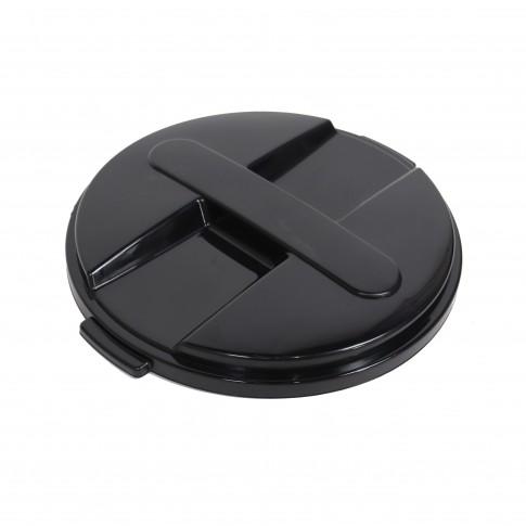 Capac pentru butoi 100 litri Dolplast, polietilena, negru
