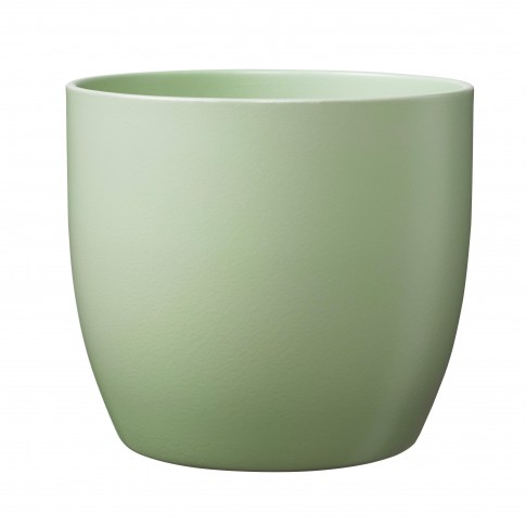 Ghiveci ceramic Basel, fistic, rotund, 13 x 12 cm