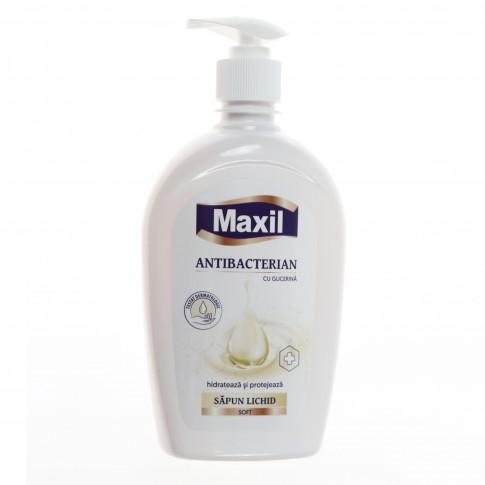 Sapun lichid antibacterian Maxil, cu pompita, 500 ml