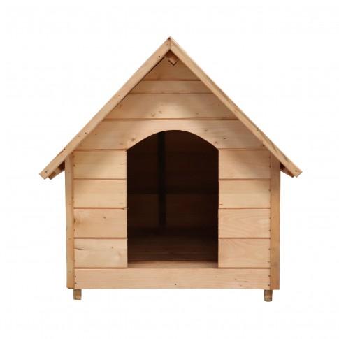Cusca pentru caini talie mare, Roff 2848 XXL, din lemn, 145 x 108 x 102.5 cm