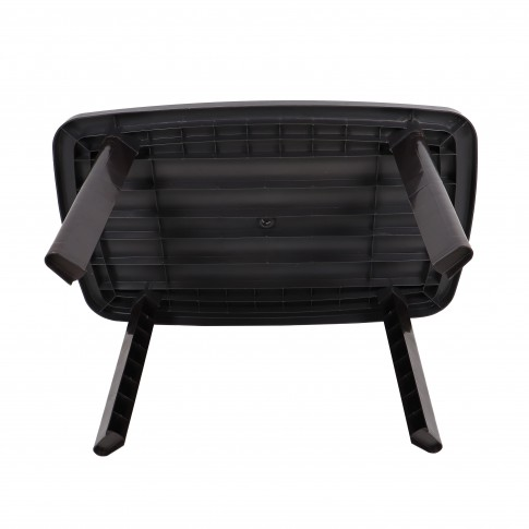 Masa fixa pentru gradina, plastic, ovala, maro, 6 persoane, 135 x 85 x 72 cm