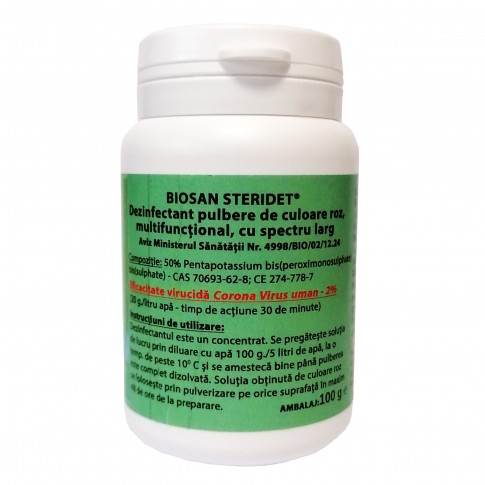 Dezinfectant pulbere Biosan K0076000, impotriva Corona Virus, 100 g