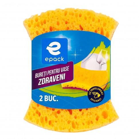Bureti pentru vase Zdraveni Epack, rezistenta sporita, galben + rosu, 2 buc / set