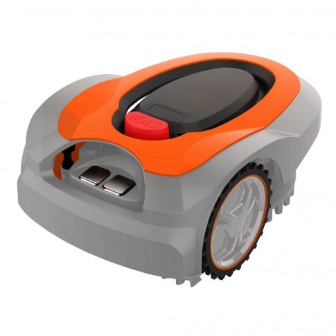 Robot de tuns iarba, electric, Ruris RXR 600, cu acumulator Li-ion, 28V, 2 Ah, latime de taiere 18 cm