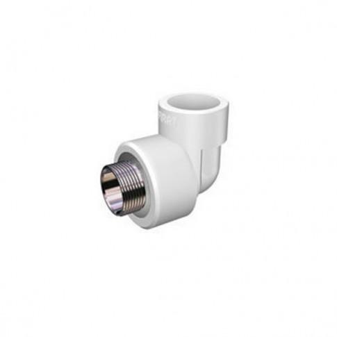 """Cot PPR,  FE, 25 mm x 1/2"""", alb, 90 grade"""
