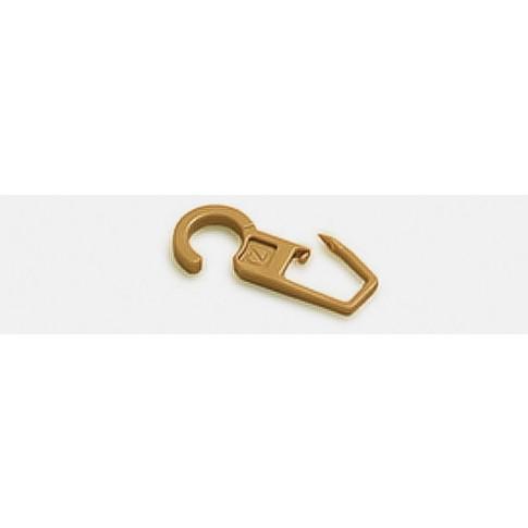 Carlig pentru falduri perdele / draperii 2347, prindere pe inel, plastic, crem, L 38 mm, D 10.4 mm, set 10 bucati