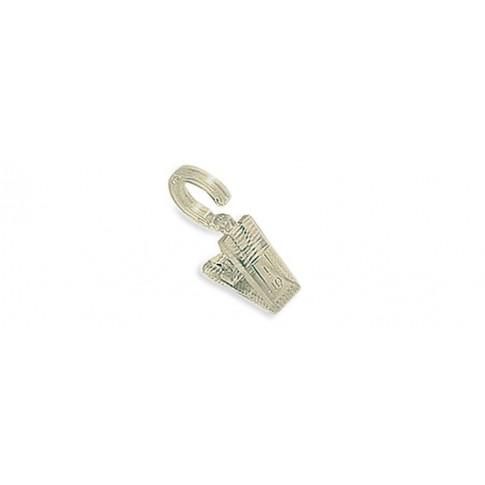 Carlig cu clema 164, cu prindere pe inel pentru perdele, PVC, transparent, 2.8 cm, set 6 bucati