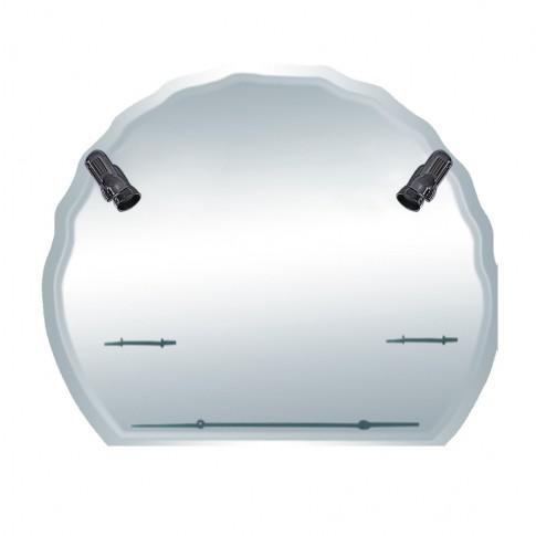Oglinda baie Class Mirrors O16, cu iluminare, 85 x 100 cm, 3 etajere