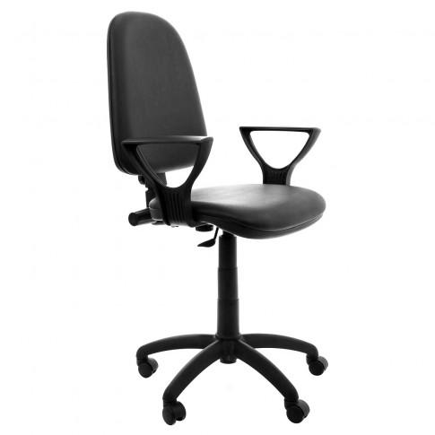 Scaun birou ergonomic Golf LX, rotativ, imitatie piele, skay negru