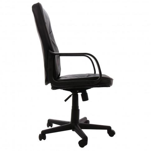 Scaun birou directorial Delta, rotativ, imitatie piele, negru