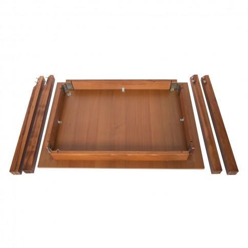 Masa bucatarie fixa Prod, dreptunghiulara, 4 persoane, nuc, 100 x 70 x 78 cm