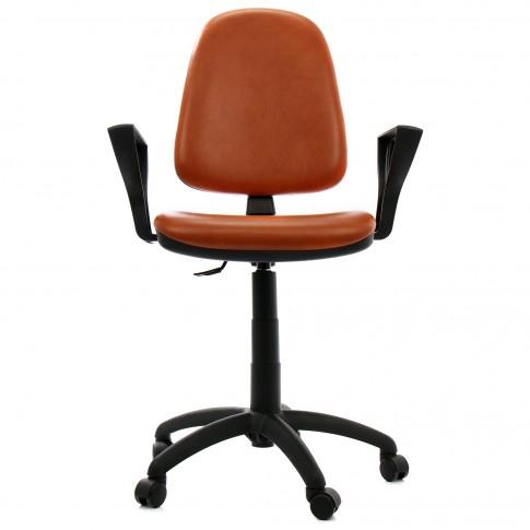 Scaun birou ergonomic Golf LX, rotativ, imitatie piele 3528, maro
