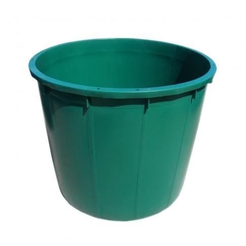 Butoi / cada plastic Plastor 24154, fara capac, 500 litri, verde, visiniu D 96 cm