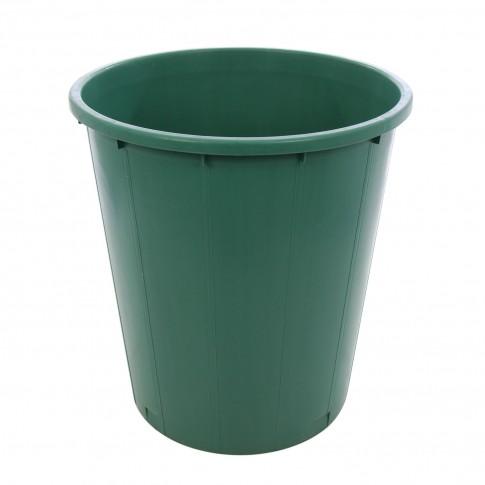 Butoi / cada plastic Plastor 24133, fara capac, 200 litri, verde, visiniu D 73 cm