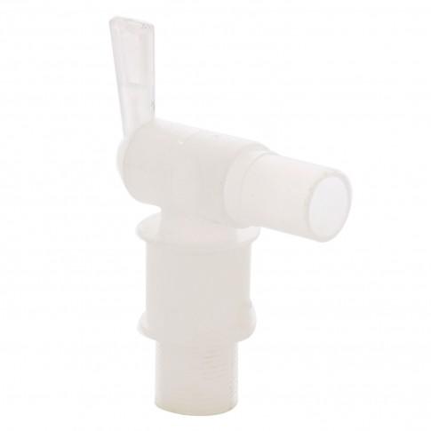 Robinet pentru butoi Plastor, PEHD, alb, 1.9 x 9 x 4.5 cm