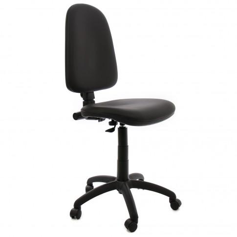 Scaun birou ergonomic Golf, rotativ, imitatie piele, skay negru