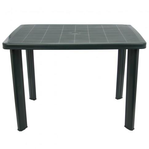 Masa fixa pentru gradina Fareto, plastic, dreptunghiulara, 6 persoane, 100 x 70 x 72 cm, verde