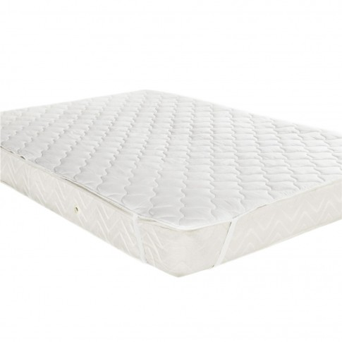 Protectie pentru saltea, microfibra, alb, 90 x 200 cm
