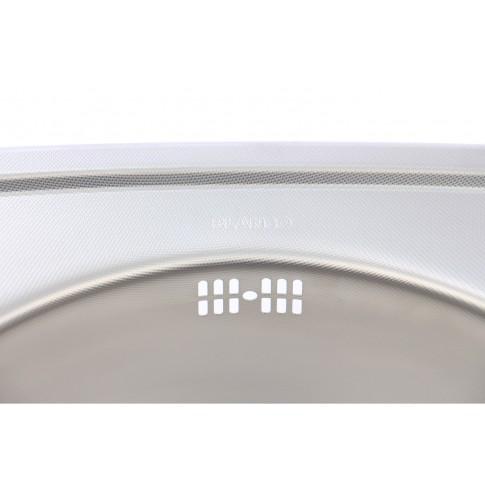 Chiuveta bucatarie inox panzat anticalcar Blanco Rondoval rotunda 53.5 x 49 cm
