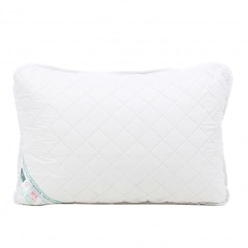 Perna pentru dormit Minet, hipoalergenica, matlasata, fibra poliester + microfibra, alb, 50 x 70 cm