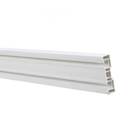 Sina perdea tavan cu 2 canale SN PVC 150 cm alb