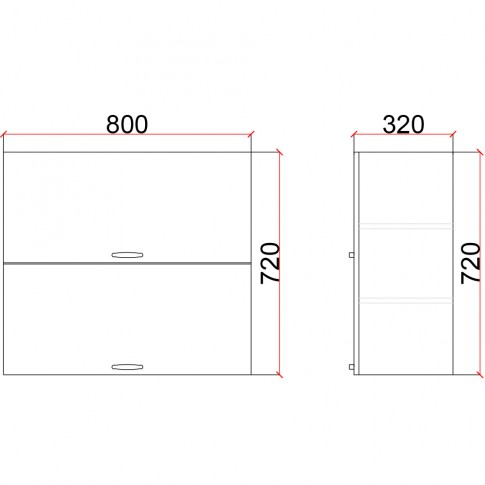 Corp superior bucatarie Martplast 1010, diverse culori, 80 x 32 x 72 cm