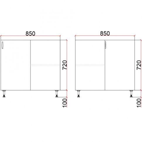 Corp inferior bucatarie Martplast 2013, pe colt, diverse culori, 85 x 85 x 82 cm