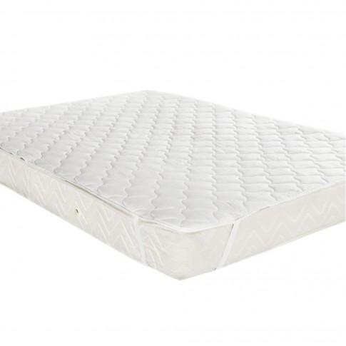 Protectie pentru saltea, microfibra, alb, 140 x 200 cm
