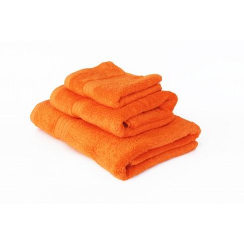 Prosop baie, bumbac, portocaliu, 70 x 130 cm