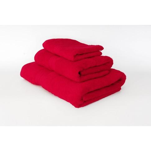 Prosop baie, bumbac, rosu, 70 x 130 cm