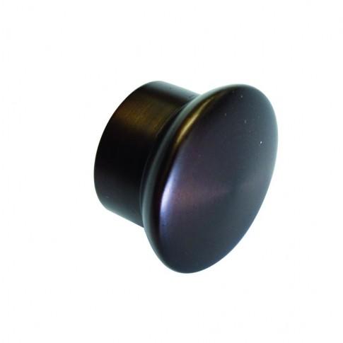 Capac lateral galerie, 19 mm, argintiu satin 30020