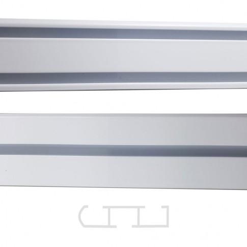 Sina aluminiu 150 cm, alba, 1/2 canale, prindere pe tavan, pentru perdea si draperie