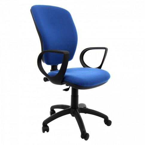 Scaun birou ergonomic Nuvola, rotativ, stofa C06, albastru