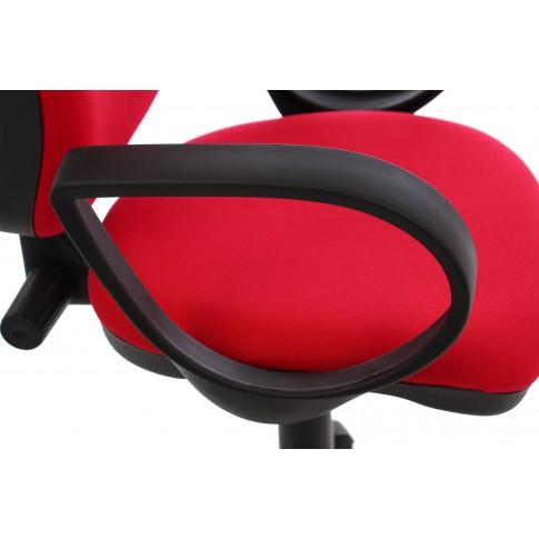 Scaun birou ergonomic Nuvola, rotativ, stofa C02, rosu