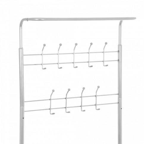 Cuier hol ST25180 cu 18 agatatori si rafturi, gri, 670 x 330 x 1850 mm, 1C