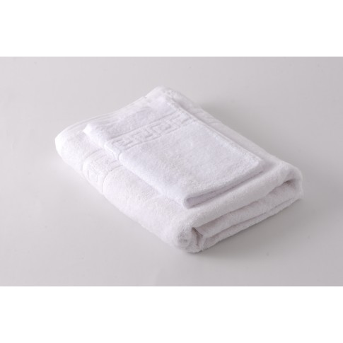 Prosop baie, bumbac, alb, 70 x 130 cm