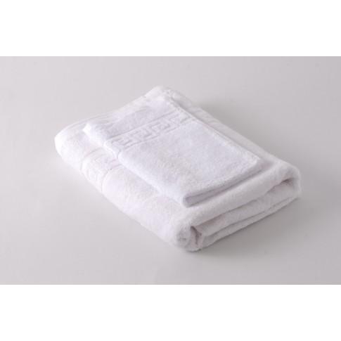 Prosop baie, bumbac, alb, 50 x 90 cm